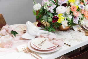 Bridesmaid place setting from a Modern Bohemian Bridesmaids' Brunch on Kara's Party Ideas | KarasPartyIdeas.com (19)