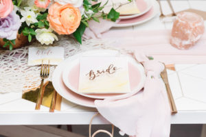 Bride place setting from a Modern Bohemian Bridesmaids' Brunch on Kara's Party Ideas | KarasPartyIdeas.com (18)