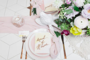 Table setting from a Modern Bohemian Bridesmaids' Brunch on Kara's Party Ideas | KarasPartyIdeas.com (16)