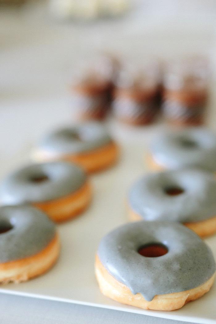Grey-iced doughnuts from a Modern Monochromatic Batman Party on Kara's Party Ideas | KarasPartyIdeas.com (15)