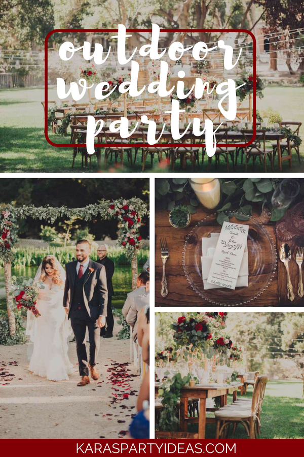 Outdoor Wedding Party via Kara's Party Ideas - KarasPartyIdeas.com