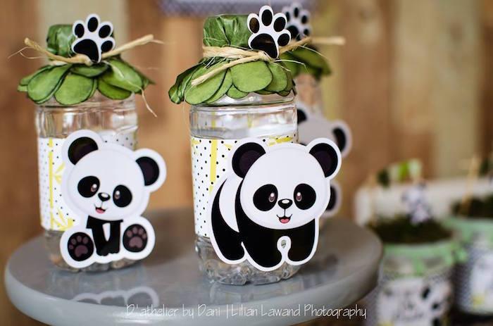 Panda Bear + Leaf Drinks from a Panda Lover Birthday Party on Kara's Party Ideas   KarasPartyIdeas.com (19)