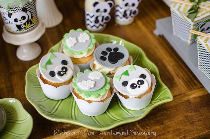 Panda Bear Cupcakes from a Panda Lover Birthday Party on Kara's Party Ideas   KarasPartyIdeas.com (17)