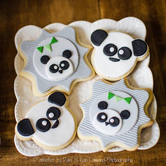 Panda Bear Cookies from a Panda Lover Birthday Party on Kara's Party Ideas   KarasPartyIdeas.com (16)