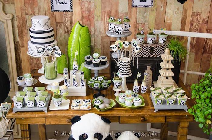 Panda Bear Sweet Table from a Panda Lover Birthday Party on Kara's Party Ideas   KarasPartyIdeas.com (12)