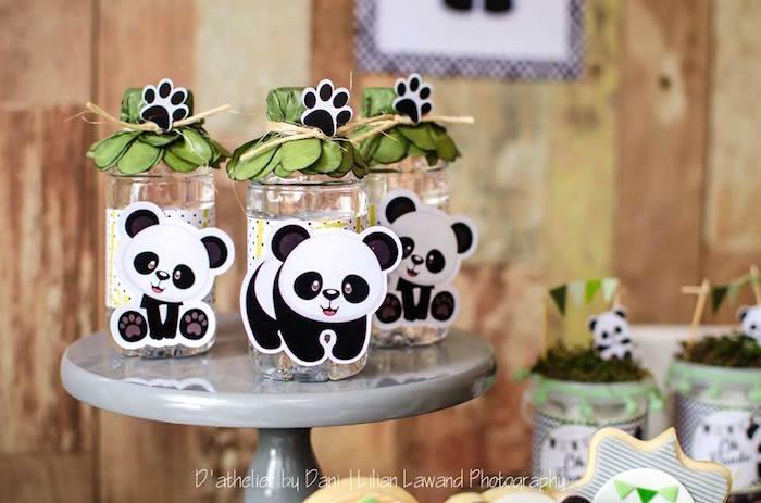Panda Bear Drink Bottles from a Panda Lover Birthday Party on Kara's Party Ideas   KarasPartyIdeas.com (11)