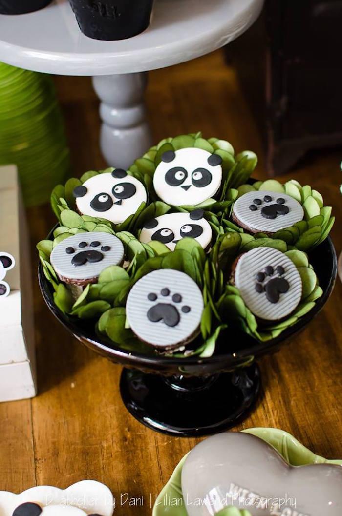 Fondant Panda Bear Dessert Toppers from a Panda Lover Birthday Party on Kara's Party Ideas   KarasPartyIdeas.com (9)