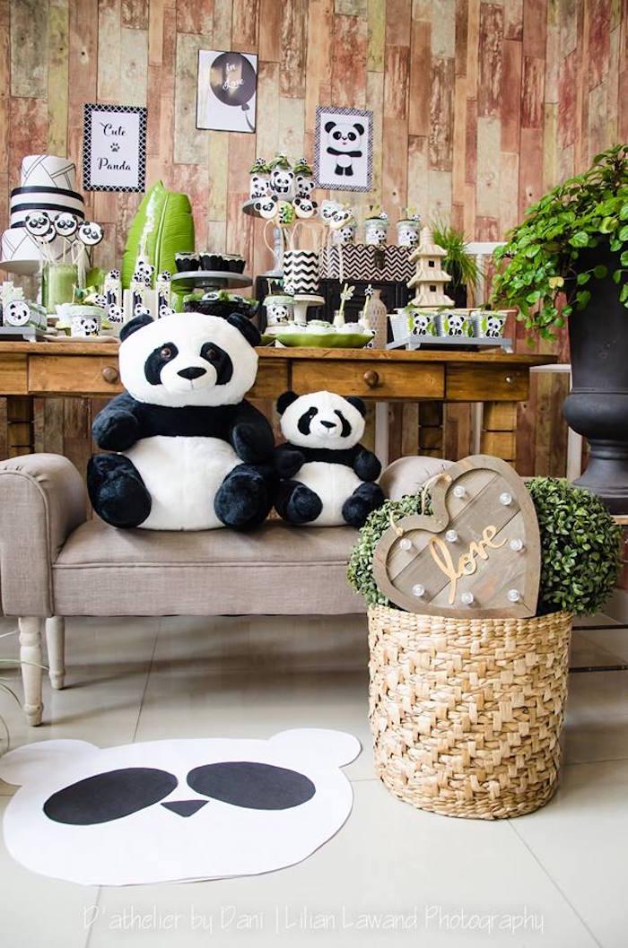 Plush pandas and decor from a Panda Lover Birthday Party on Kara's Party Ideas   KarasPartyIdeas.com (6)