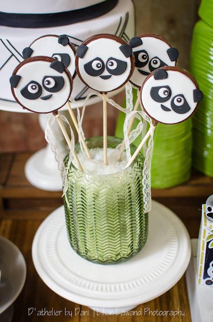 Chocolate Panda Bear Pops from a Panda Lover Birthday Party on Kara's Party Ideas   KarasPartyIdeas.com (26)