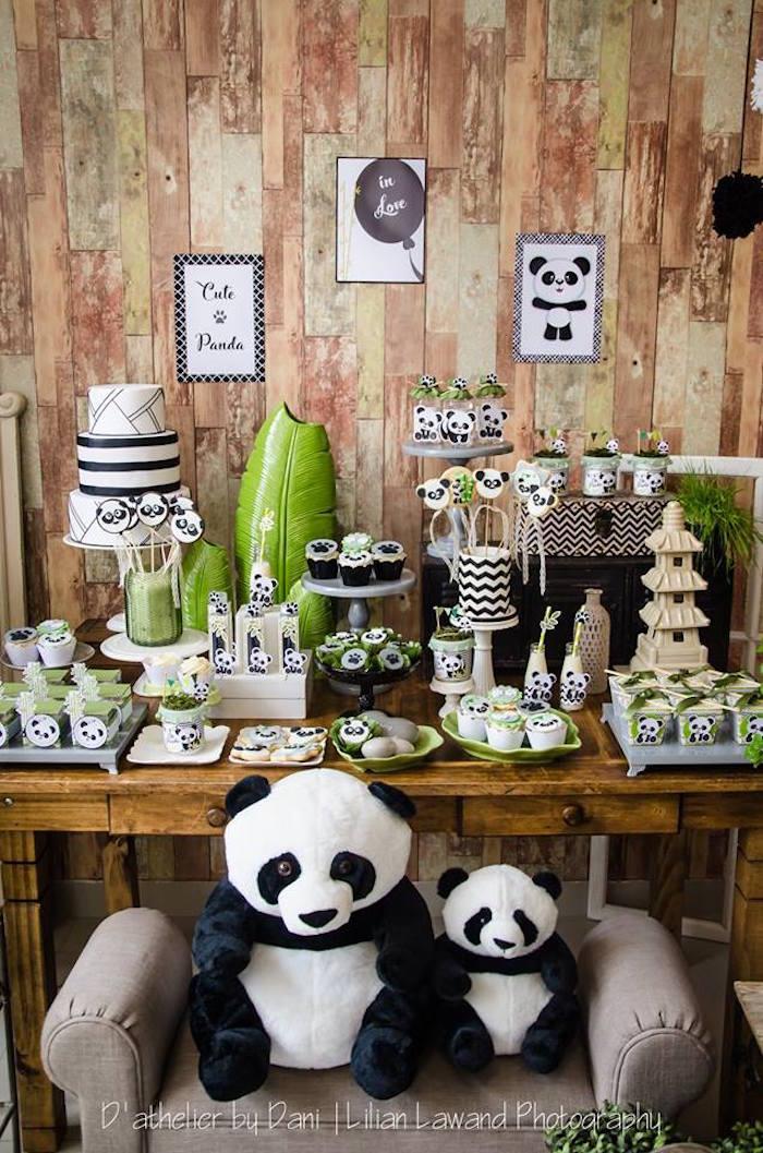 Dessert table from a Panda Lover Birthday Party on Kara's Party Ideas   KarasPartyIdeas.com (21)