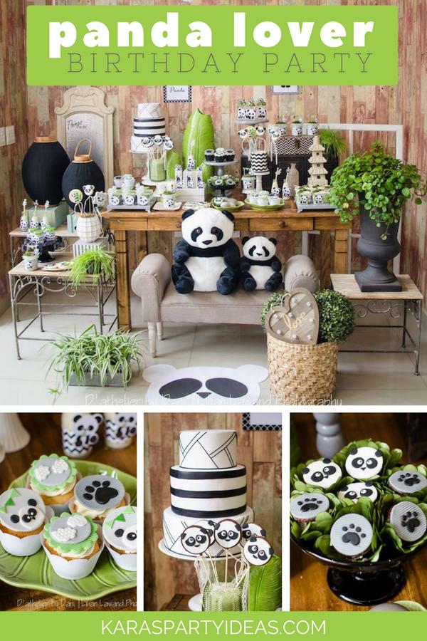 Panda Lover Birthday Party via Kara's Party Ideas - KarasPartyIdeas.com
