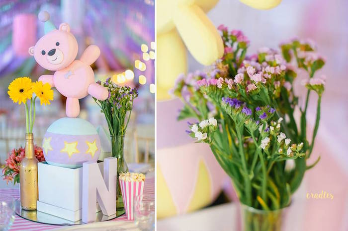 Carnival Table Centerpiece from a Pastel Carnival Birthday Party on Kara's Party Ideas | KarasPartyIdeas.com (12)