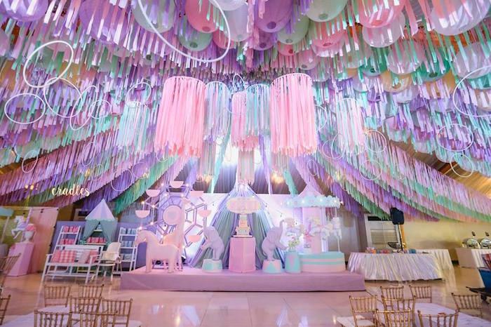 Pastel Carnival Birthday Party on Kara's Party Ideas | KarasPartyIdeas.com (20)