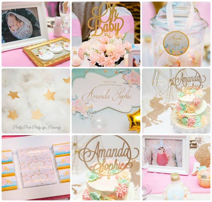 Unicorn party details from a Pink & Gold Unicorn 100 Days Party on Kara's Party Ideas | KarasPartyIdeas.com (6)