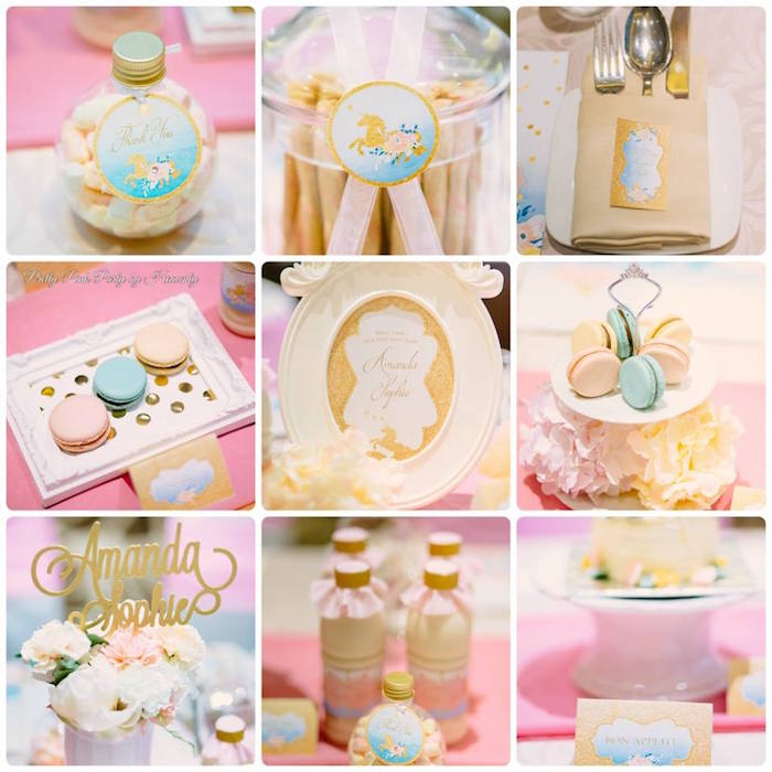 Unicorn party details from a Pink & Gold Unicorn 100 Days Party on Kara's Party Ideas | KarasPartyIdeas.com (5)