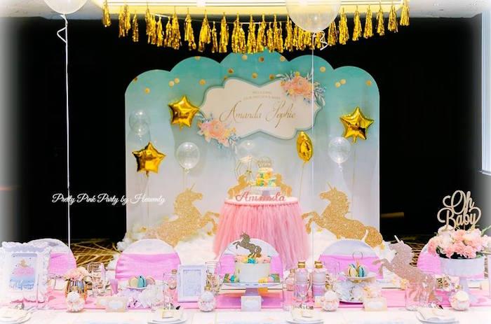 Pink & Gold Unicorn 100 Days Party on Kara's Party Ideas | KarasPartyIdeas.com (16)