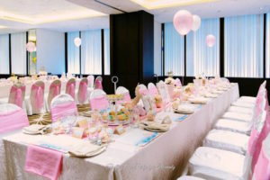 Guest tablescape from a Pink & Gold Unicorn 100 Days Party on Kara's Party Ideas | KarasPartyIdeas.com (15)