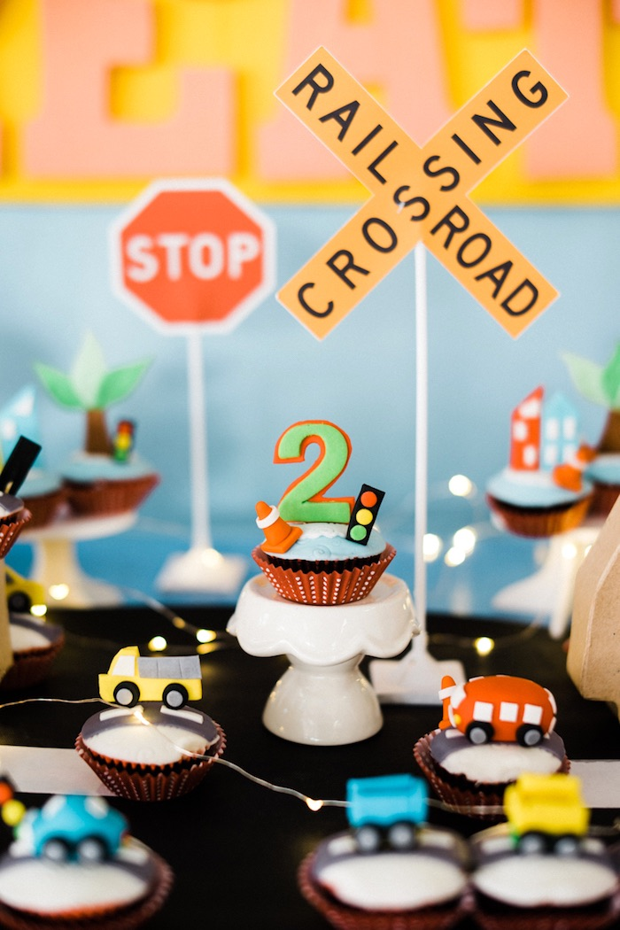 Transportation cupcakes from a Planes, Trains, Automobiles Transportation Party on Kara's Party Ideas | KarasPartyIdeas.com (21)