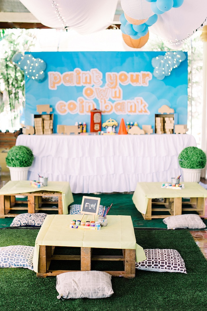Activity tables from a Planes, Trains, Automobiles Transportation Party on Kara's Party Ideas | KarasPartyIdeas.com (24)
