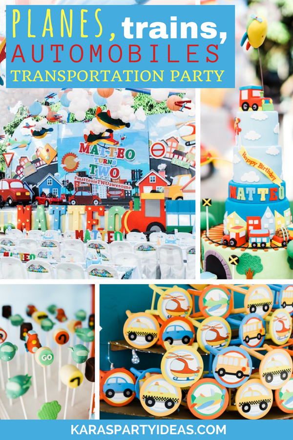 Planes Trains Automobiles Transportation Party via Kara's Party Ideas - KarasPartyIdeas.com