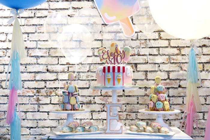 Dessert table from a Popsicle Birthday Party on Kara's Party Ideas | KarasPartyIdeas.com (13)