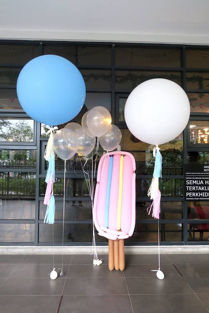 Balloon entrance from a Popsicle Birthday Party on Kara's Party Ideas | KarasPartyIdeas.com (11)
