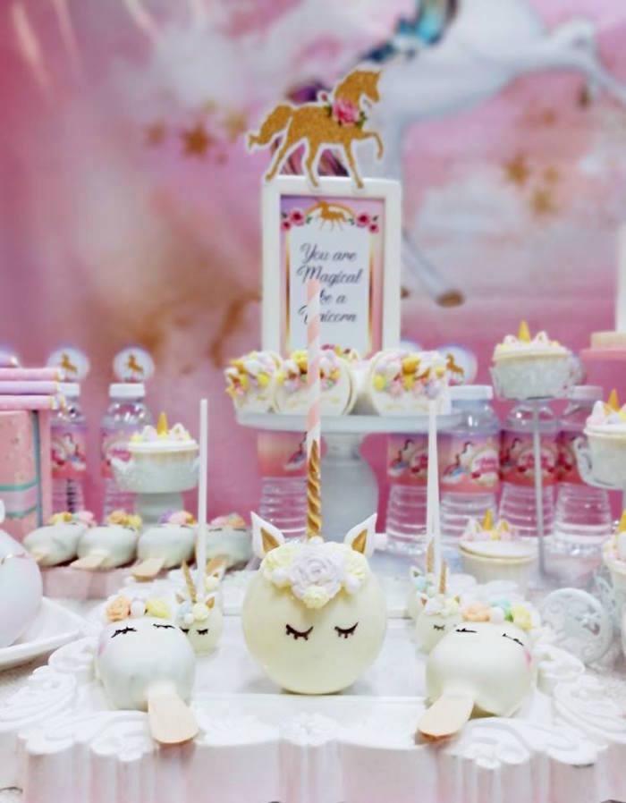 Unicorn pops from a Pretty Pink Unicorn Birthday Party on Kara's Party Ideas | KarasPartyIdeas.com (6)
