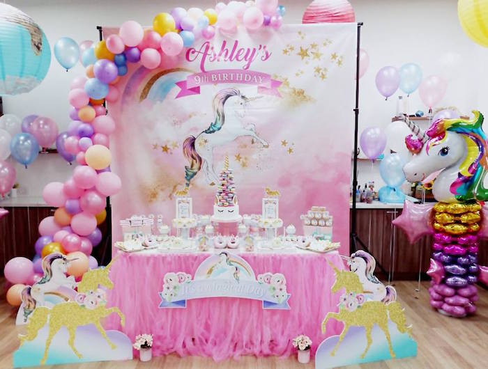 Kara S Party Ideas Pretty Pink Unicorn Birthday Party
