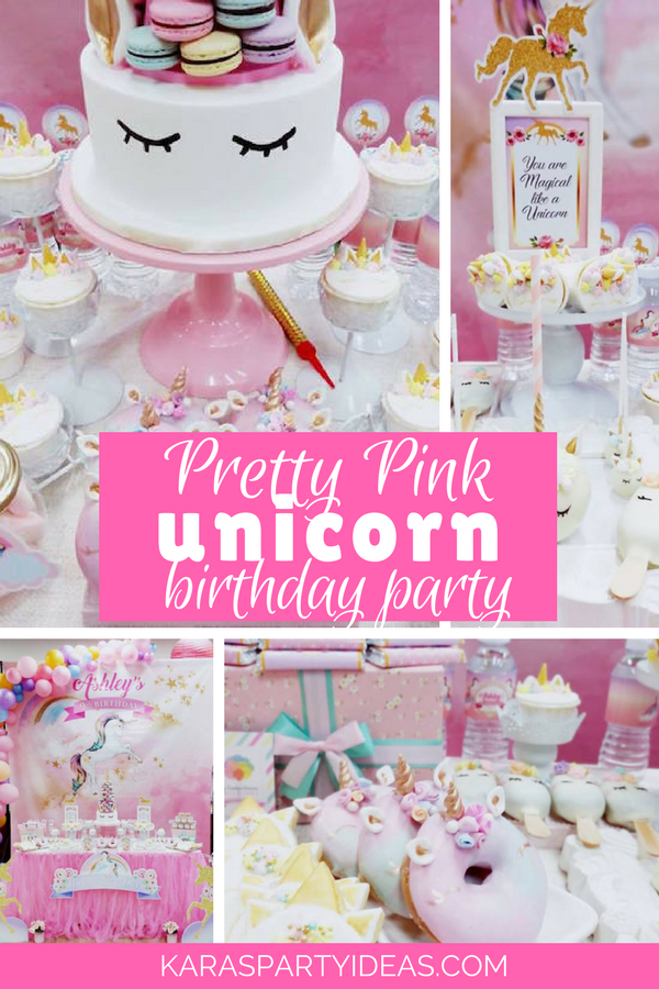 Kara S Party Ideas Pretty Pink Unicorn Birthday Party