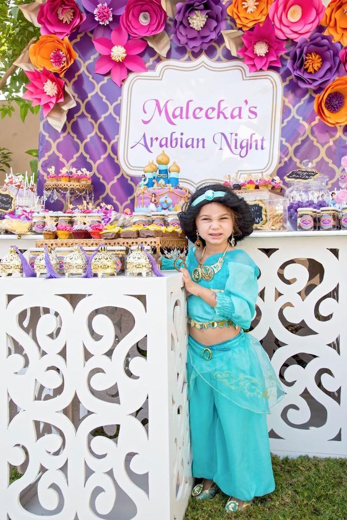 Princess Jasmine Inspired Arabian Nights Party On Karau0027s Party Ideas |  KarasPartyIdeas.com (13