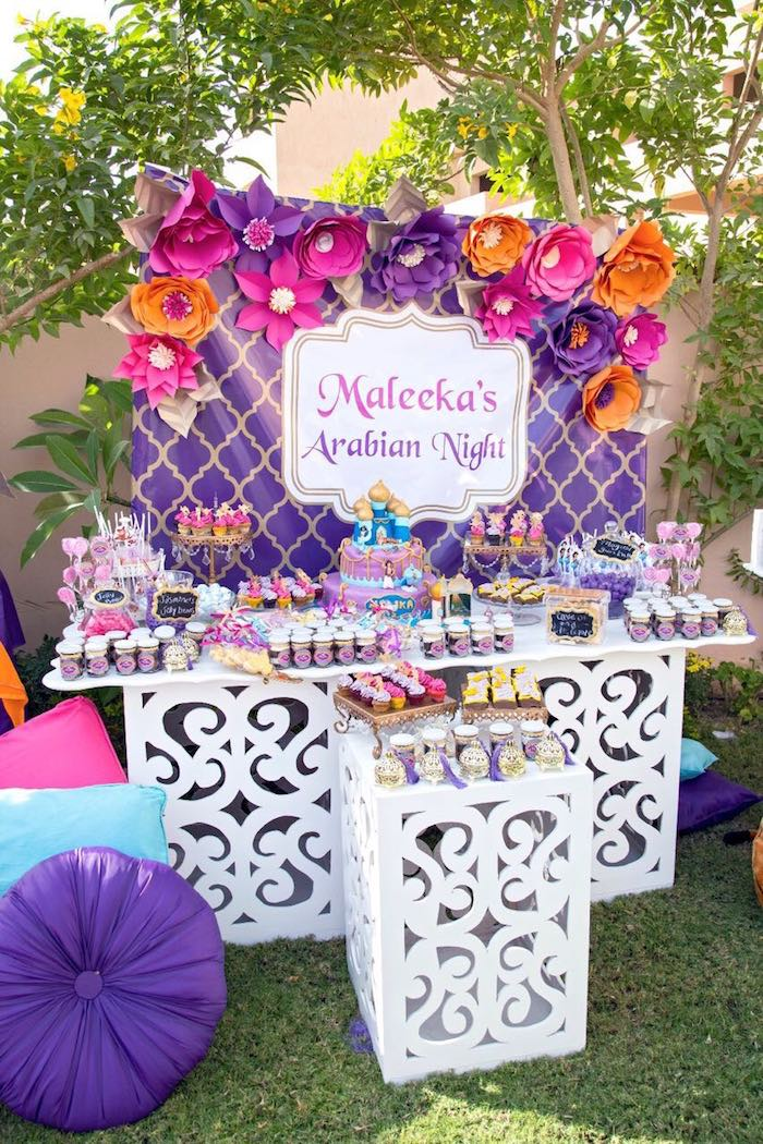 Dessert table from an Princess Jasmine Inspired Arabian Nights Party on Kara's Party Ideas | KarasPartyIdeas.com (11)