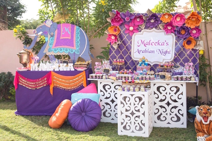 Princess Jasmine Inspired Arabian Nights Party on Kara's Party Ideas | KarasPartyIdeas.com (10)