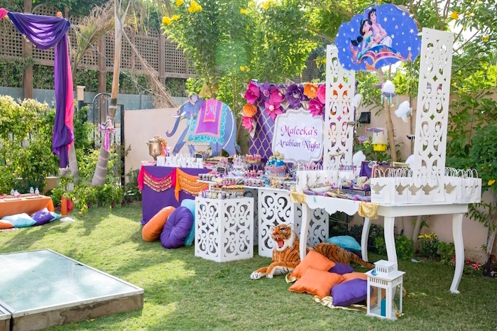 Princess Jasmine Inspired Arabian Nights Party on Kara's Party Ideas | KarasPartyIdeas.com (8)