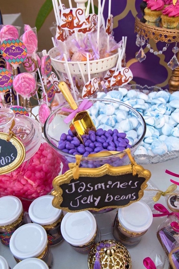 Jasmine Jelly Beans from a Princess Jasmine Inspired Arabian Nights Party on Kara's Party Ideas | KarasPartyIdeas.com (7)