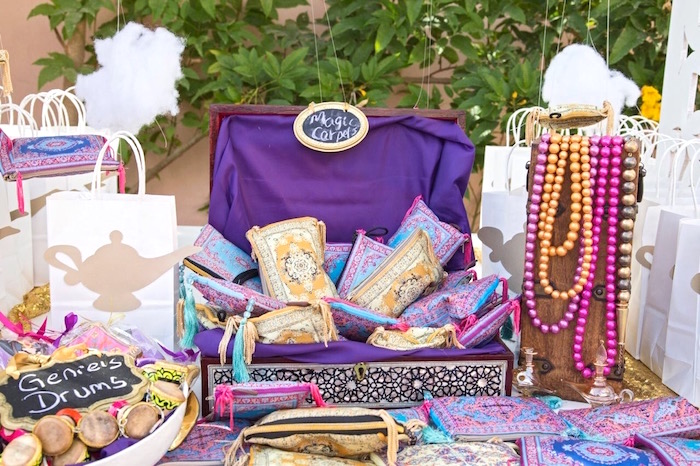 Magic Carpet Favors from a Princess Jasmine Inspired Arabian Nights Party on Kara's Party Ideas | KarasPartyIdeas.com (6)