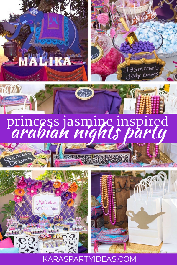 Princess Jasmine Inspired Arabian Nights Party via Kara's Party Ideas - KarasPartyIdeas.com