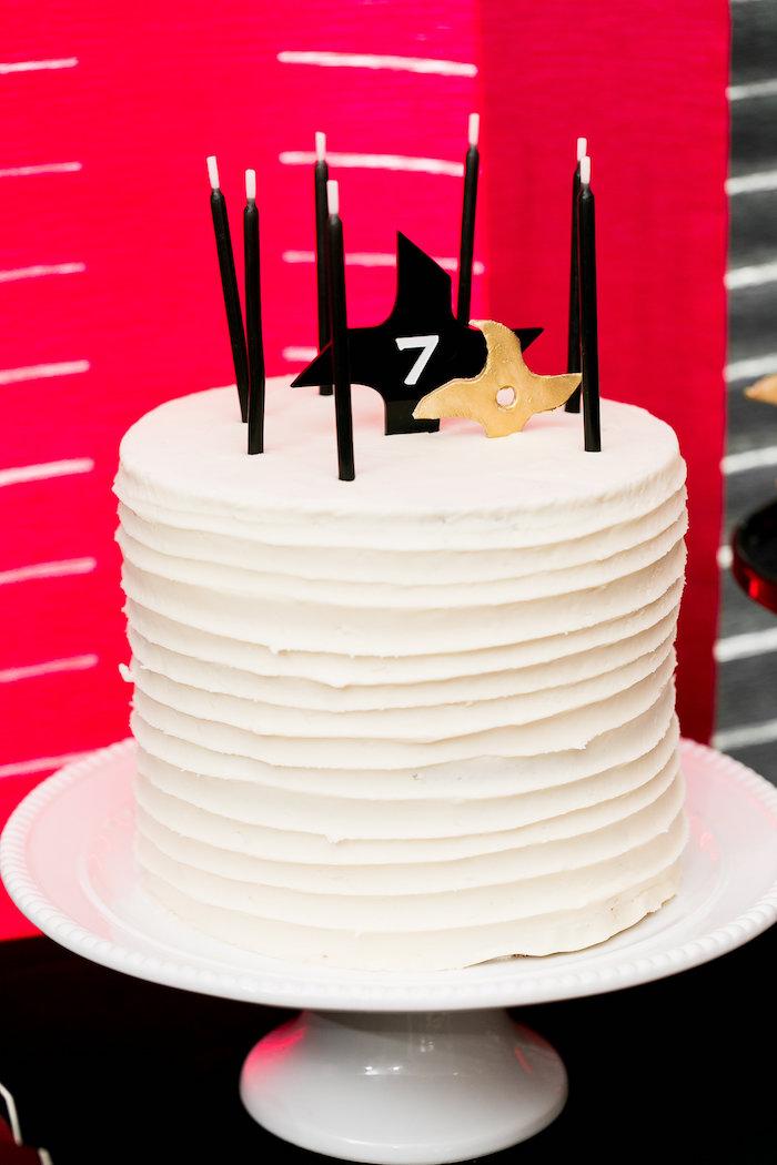 Kara S Party Ideas Red White Amp Black Ninja Birthday Party