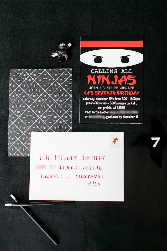 Ninja Party Printables + Stationery from a Red, White & Black Ninja Birthday Party on Kara's Party Ideas | KarasPartyIdeas.com (28)