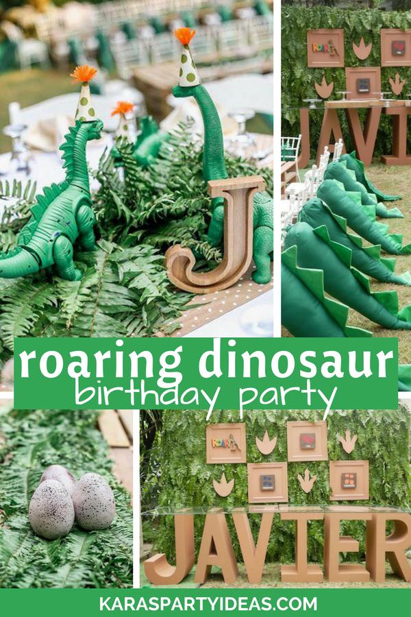 Roaring Dinosaur Birthday Party via Kara's Party Ideas - KarasPartyIdeas.com