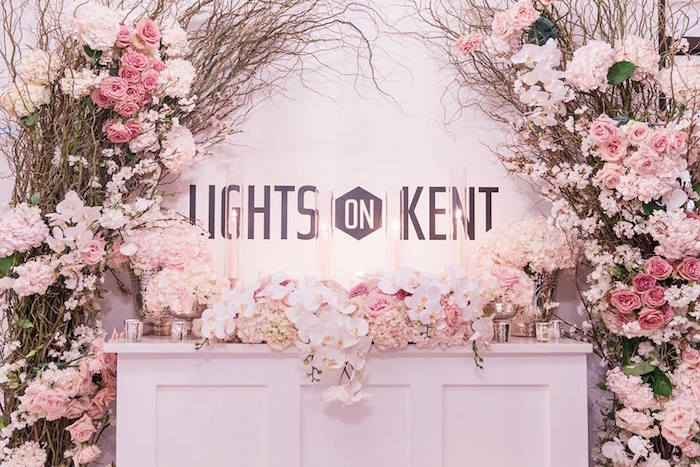 Floral garland + arch from a Romantic White Wedding on Kara's Party Ideas   KarasPartyIdeas.com (18)