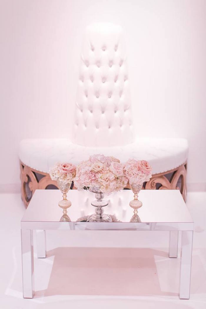 Mirrored table from a Romantic White Wedding on Kara's Party Ideas | KarasPartyIdeas.com (16)