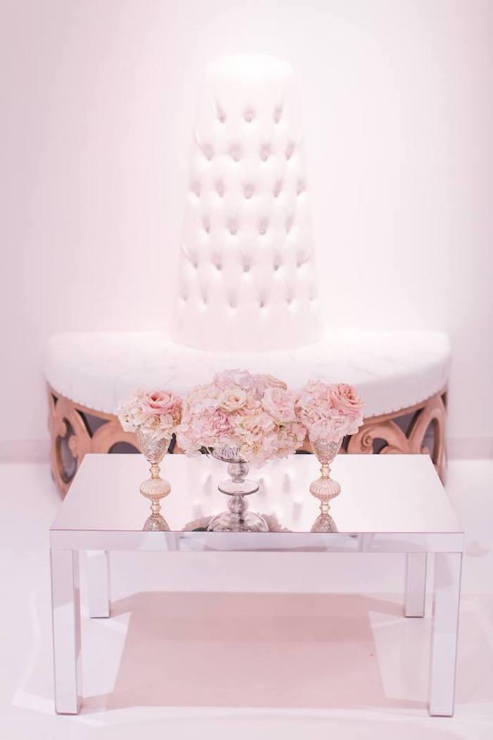 Mirrored table from a Romantic White Wedding on Kara's Party Ideas   KarasPartyIdeas.com (16)