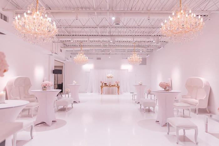 Romantic White Wedding on Kara's Party Ideas   KarasPartyIdeas.com (13)