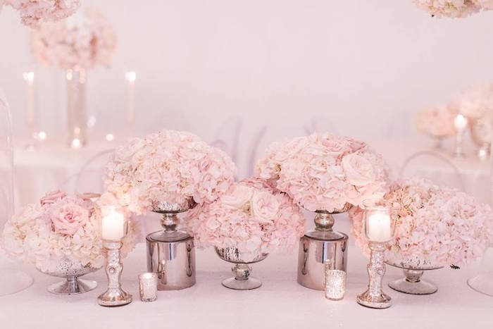 Candles & Blooms from a Romantic White Wedding on Kara's Party Ideas   KarasPartyIdeas.com (12)
