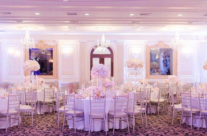 Guest tables from a Romantic White Wedding on Kara's Party Ideas   KarasPartyIdeas.com (9)