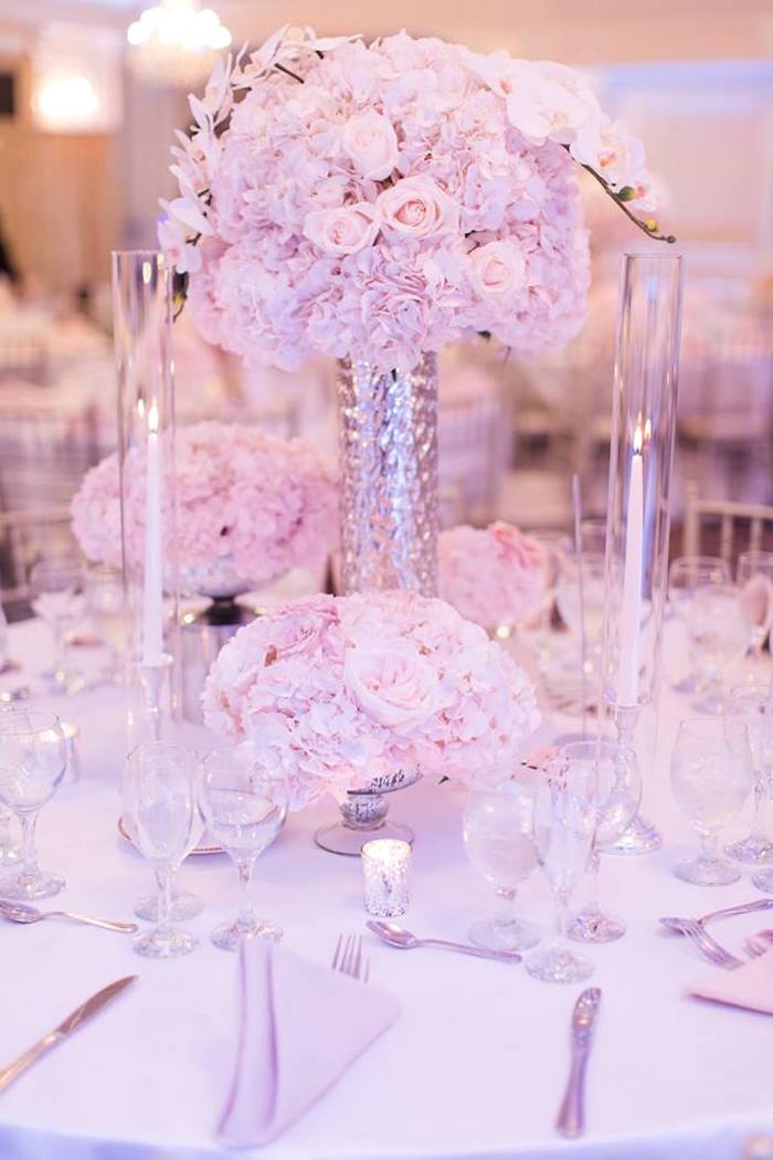 Guest tabletop + decor from a Romantic White Wedding on Kara's Party Ideas   KarasPartyIdeas.com (27)