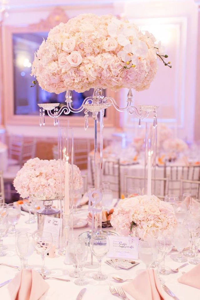 Guest table from a Romantic White Wedding on Kara's Party Ideas | KarasPartyIdeas.com (24)