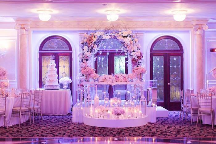 Romantic White Wedding on Kara's Party Ideas   KarasPartyIdeas.com (23)