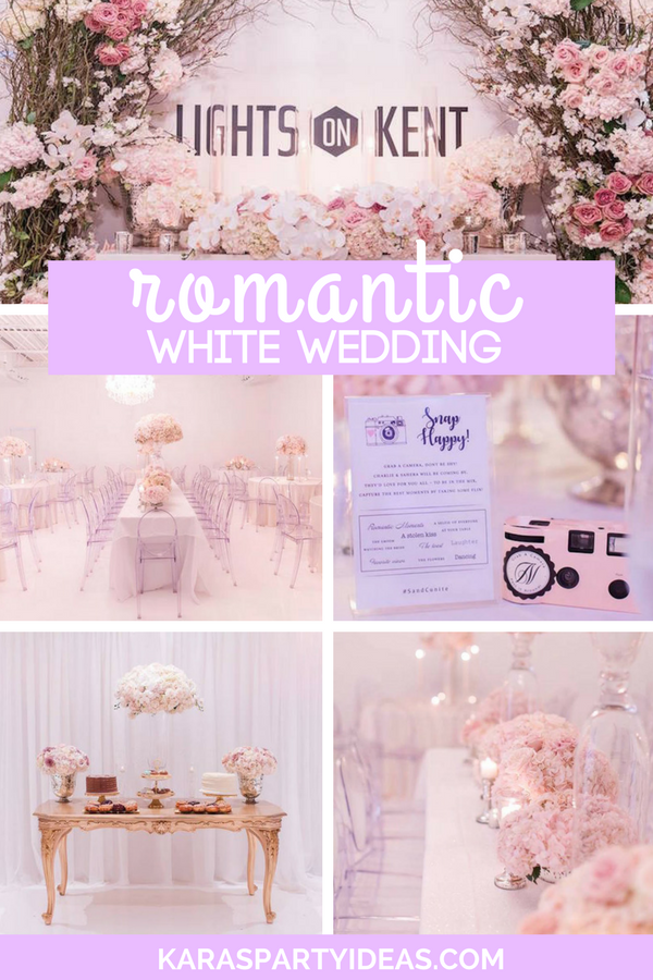 Romantic White Wedding via Kara's Party Ideas - KarasPartyIdeas.com
