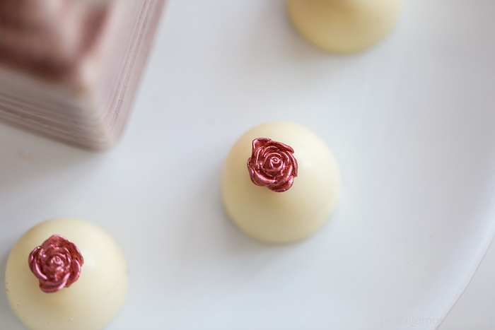 Rose-topped chocolate from a Rosé All Day Glamorous Birthday Party on Kara's Party Ideas | KarasPartyIdeas.com (4)